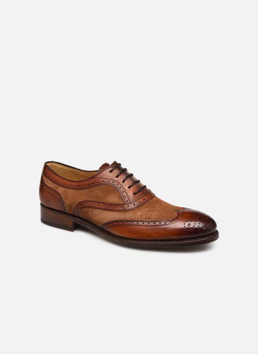 Chaussures à lacets Marvin&Co Luxe Wanty - Cousu Goodyear Marron vue détail/paire