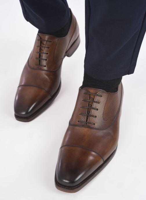 Chaussures à lacets Marvin&Co Luxe Wolter - Cousu Goodyear Marron vue bas / vue portée sac