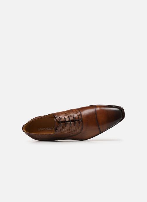 Zapatos con cordones Marvin&Co Luxe Wolter - Cousu Goodyear Marrón vista lateral izquierda