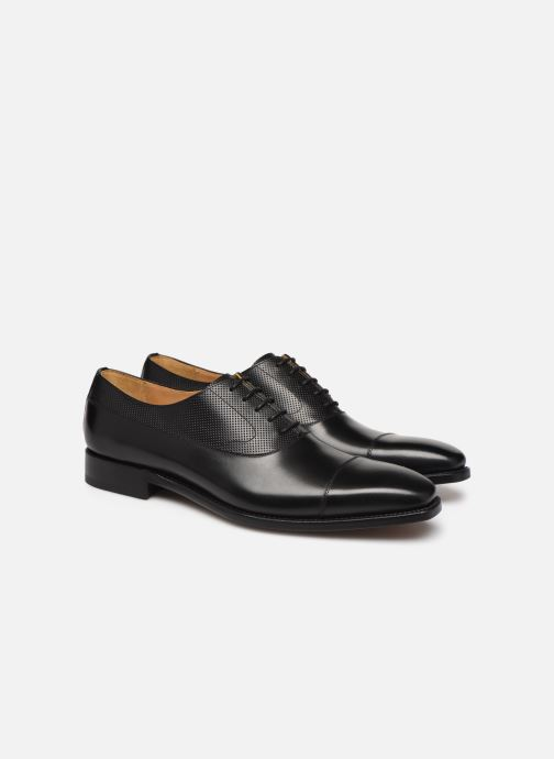 Chaussures à lacets Marvin&Co Luxe Wolter - Cousu Goodyear Noir vue 3/4