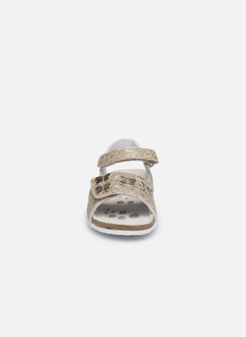 Sandales et nu-pieds Chicco Farfalla Or et bronze vue portées chaussures