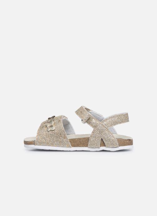 Sandales et nu-pieds Chicco Farfalla Or et bronze vue face