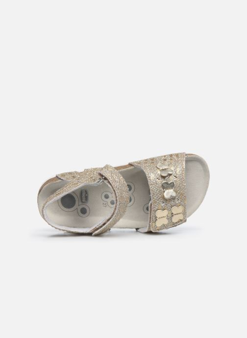 Sandales et nu-pieds Chicco Farfalla Or et bronze vue gauche