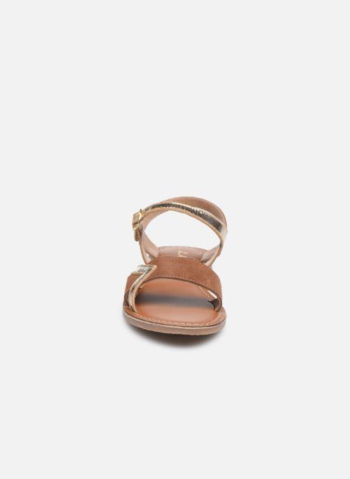 Sandales et nu-pieds L'Atelier Tropézien Sandales IL107 Or et bronze vue portées chaussures