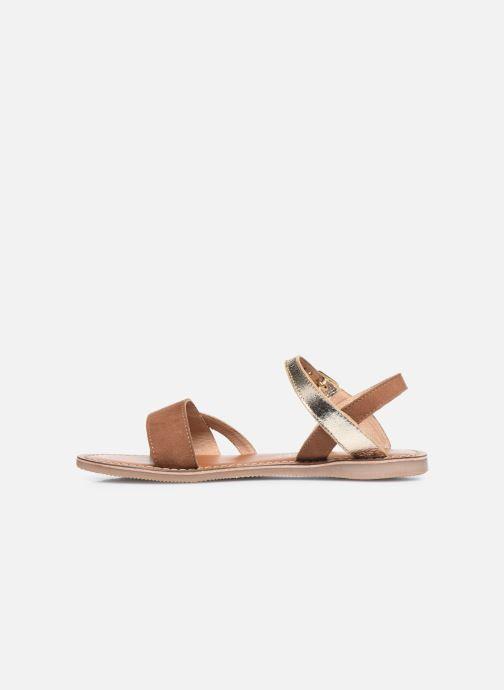 Sandales et nu-pieds L'Atelier Tropézien Sandales IL107 Or et bronze vue face