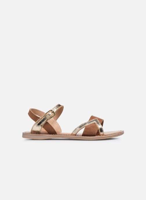 Sandales et nu-pieds L'Atelier Tropézien Sandales IL107 Or et bronze vue derrière