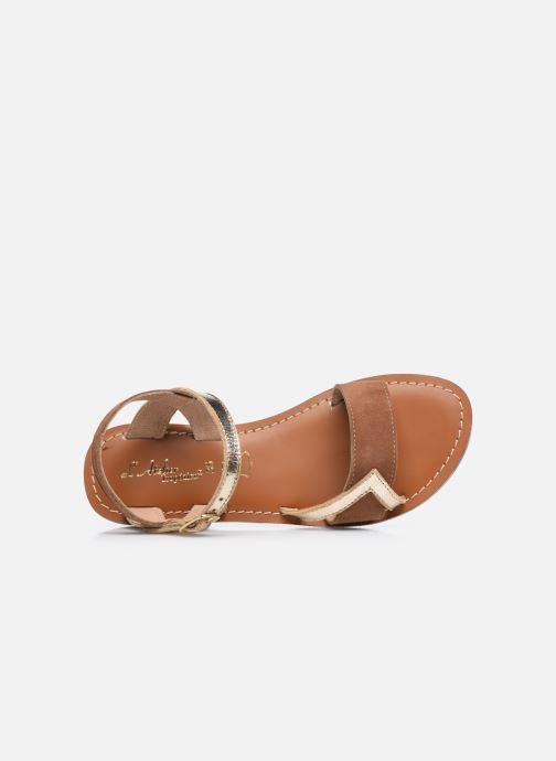 Sandales et nu-pieds L'Atelier Tropézien Sandales IL107 Or et bronze vue gauche