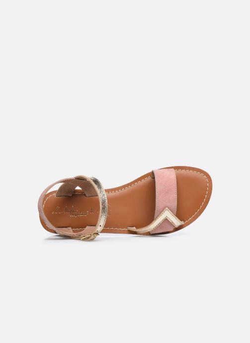 Sandales et nu-pieds L'Atelier Tropézien Sandales IL107 Rose vue gauche