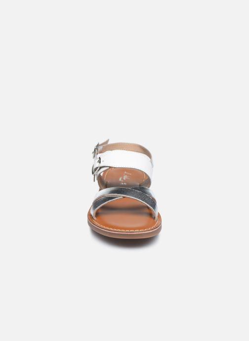 Sandales et nu-pieds L'Atelier Tropézien Sandales SB607E Blanc vue portées chaussures