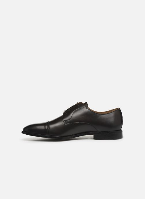 Lace-up shoes BOSS Lisbon Derb buct Brown front view
