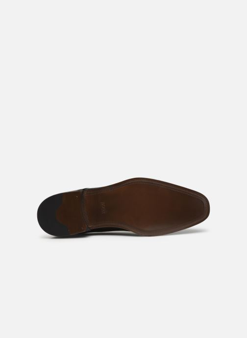 Lace-up shoes BOSS Lisbon Derb buct Brown view from above