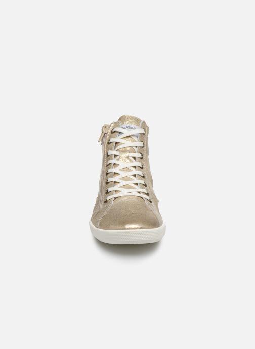 Baskets Pataugas PALME/M F2E Or et bronze vue portées chaussures