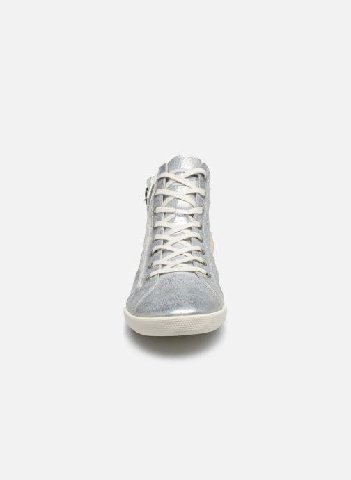Baskets Pataugas PALME/M F2E Argent vue portées chaussures