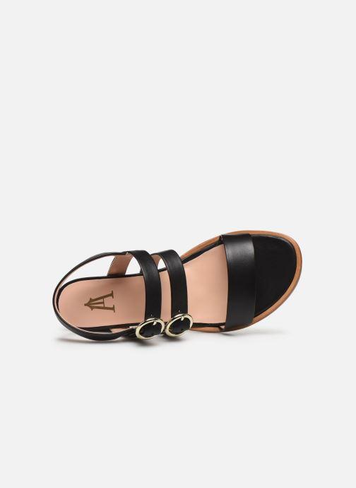 Sandales et nu-pieds Craie Rigatoni Talon Noir vue gauche