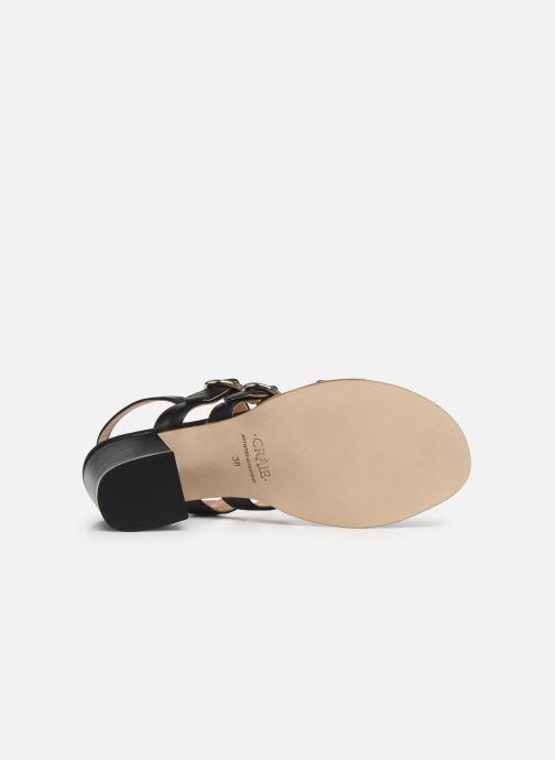 Sandales et nu-pieds Craie Rigatoni Talon Noir vue haut