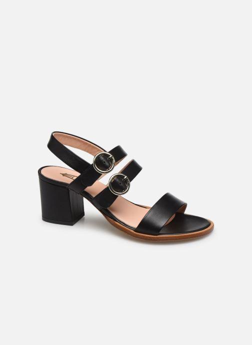 Sandales et nu-pieds Craie Rigatoni Talon Noir vue détail/paire