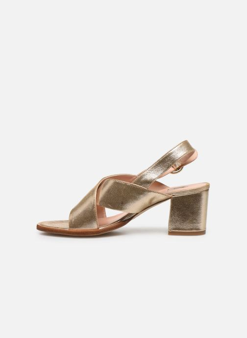 Sandales et nu-pieds Craie Infini Talon Or et bronze vue face