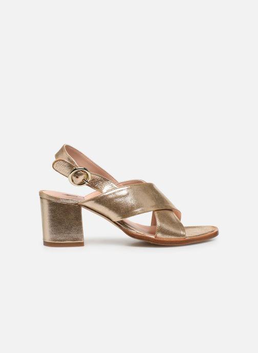 Sandales et nu-pieds Craie Infini Talon Or et bronze vue derrière
