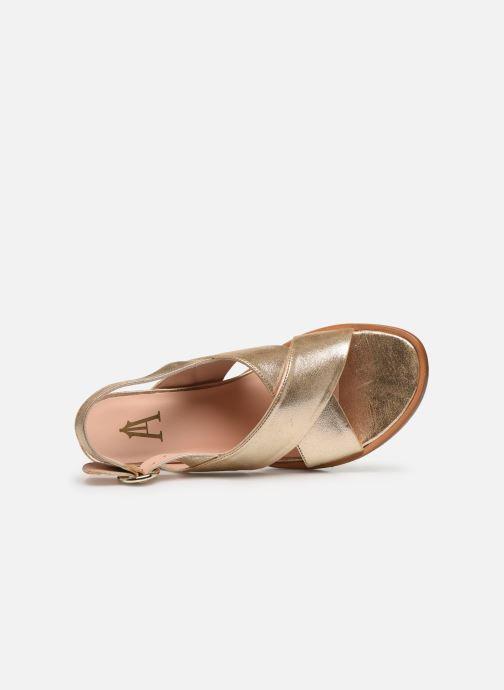Sandales et nu-pieds Craie Infini Talon Or et bronze vue gauche