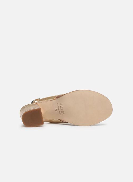 Sandales et nu-pieds Craie Infini Talon Or et bronze vue haut