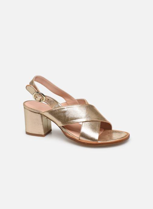 Sandales et nu-pieds Craie Infini Talon Or et bronze vue détail/paire
