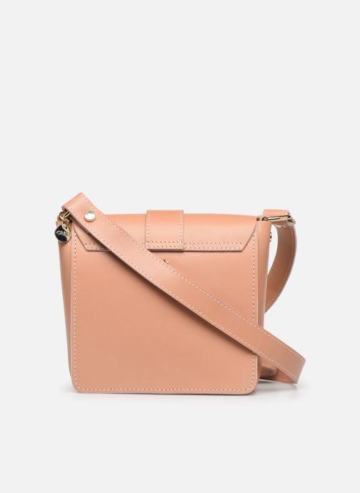 Handtaschen Craie Geometrie rosa ansicht von vorne