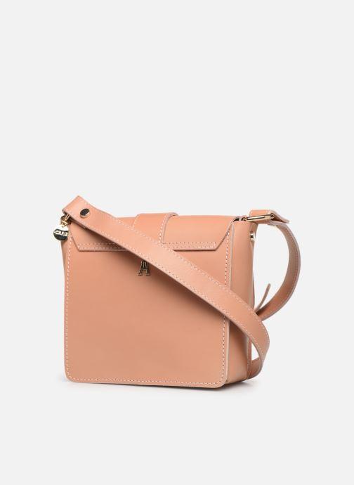 Handtaschen Craie Geometrie rosa ansicht von rechts