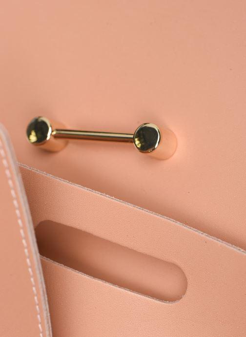 Handtaschen Craie Geometrie rosa ansicht von links