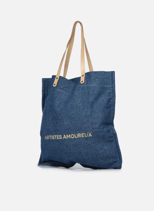 Handtaschen Craie Amoureux blau ansicht von rechts