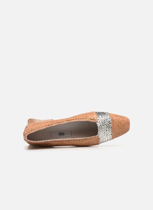 Zapatos de tacón Miista Eivissa Beige vista lateral izquierda