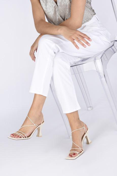 Sandales et nu-pieds Miista Sally Blanc vue bas / vue portée sac