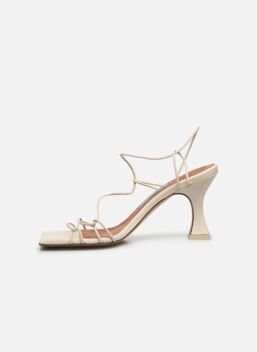 Sandales et nu-pieds Miista Sally Blanc vue face