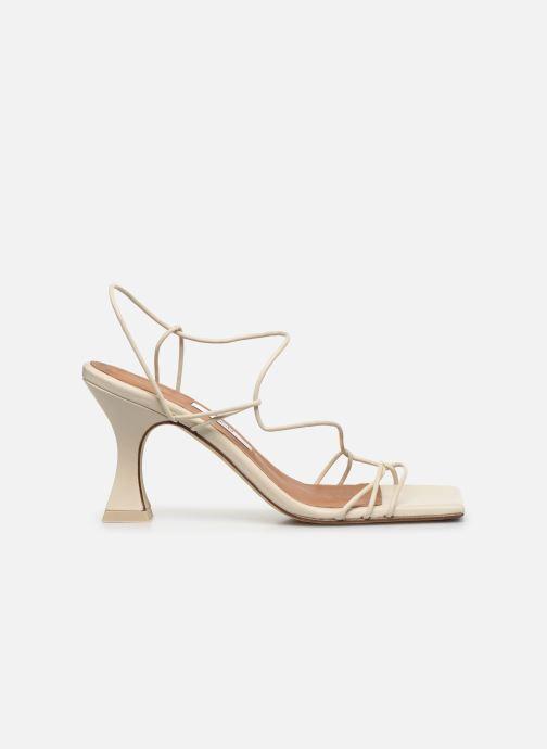 Sandales et nu-pieds Miista Sally Blanc vue derrière