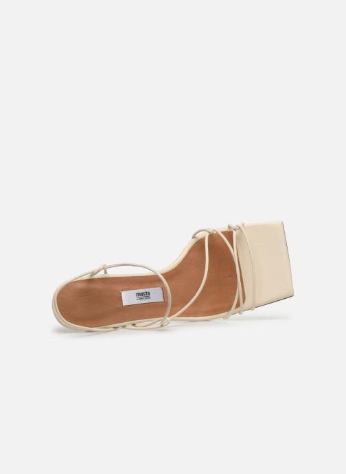 Sandales et nu-pieds Miista Sally Blanc vue gauche
