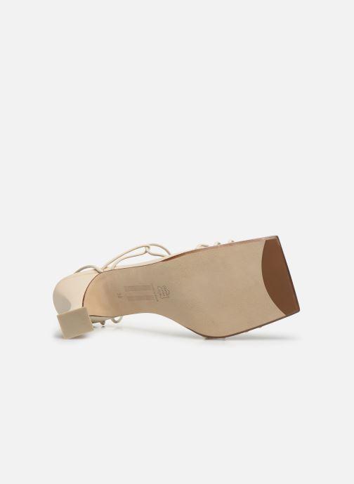 Sandales et nu-pieds Miista Sally Blanc vue haut