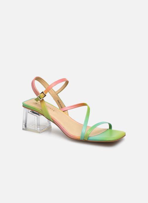 Sandalias E8 by Miista Manaia Multicolor vista de detalle / par
