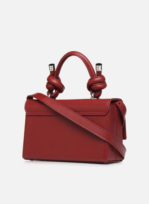 Handtassen Behno Mary Bag Mini Nappa Bordeaux rechts