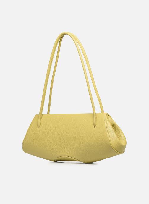 Handtaschen Behno Elisabeth Baguette gelb ansicht von rechts
