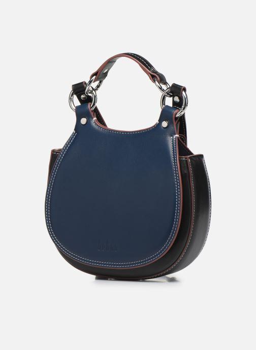 Borse Behno Tilda Mini Saddle Bag Nappa Azzurro modello indossato