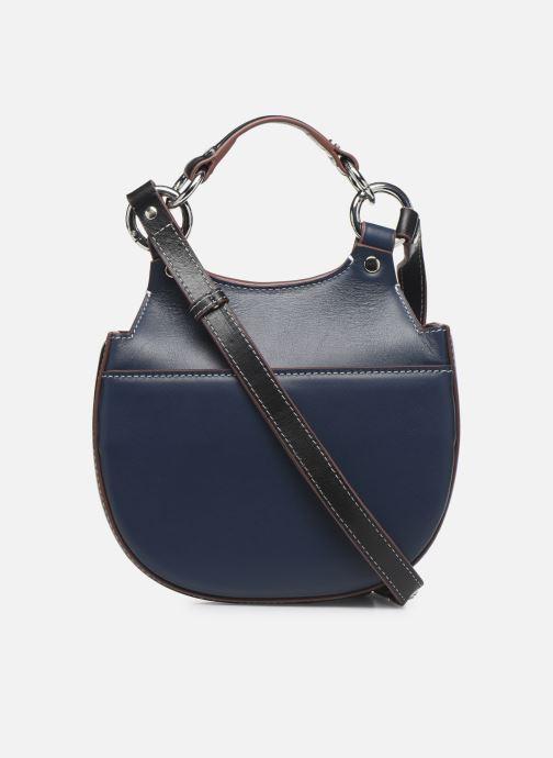 Handtaschen Behno Tilda Mini Saddle Bag Nappa blau ansicht von vorne