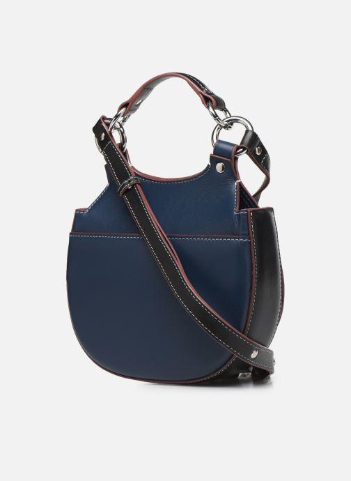 Handtaschen Behno Tilda Mini Saddle Bag Nappa blau ansicht von rechts
