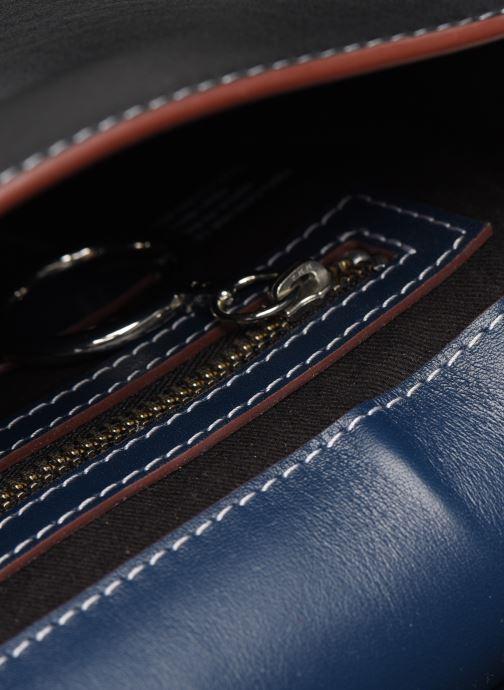 Handtaschen Behno Tilda Mini Saddle Bag Nappa blau ansicht von hinten