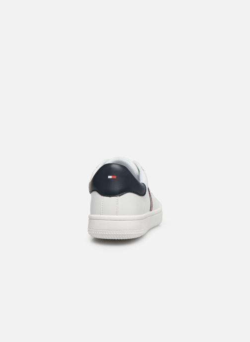 Baskets Tommy Hilfiger Low Cut Lace-Up Sneaker Rayé Blanc vue droite