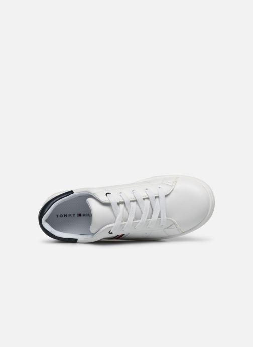 Baskets Tommy Hilfiger Low Cut Lace-Up Sneaker Rayé Blanc vue gauche