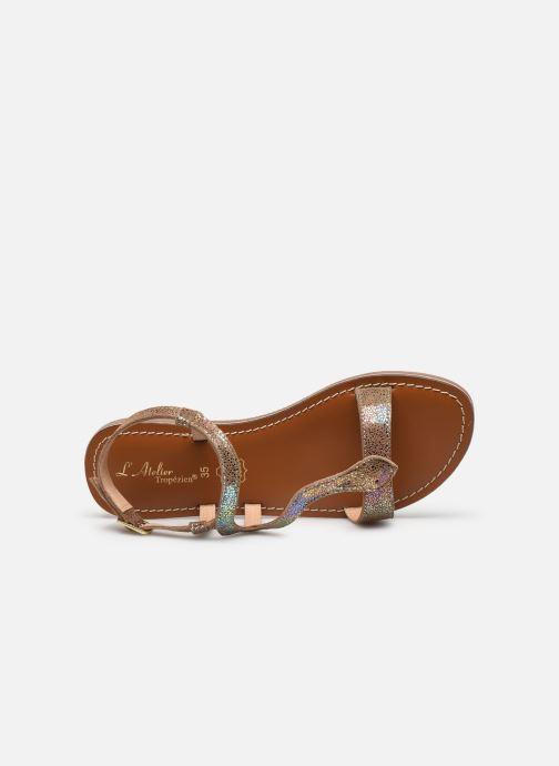 Sandales et nu-pieds L'Atelier Tropézien Sandales IL100E Marron vue gauche