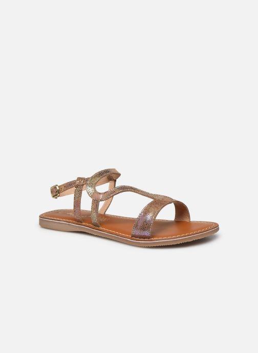 Sandales et nu-pieds L'Atelier Tropézien Sandales IL100E Marron vue détail/paire