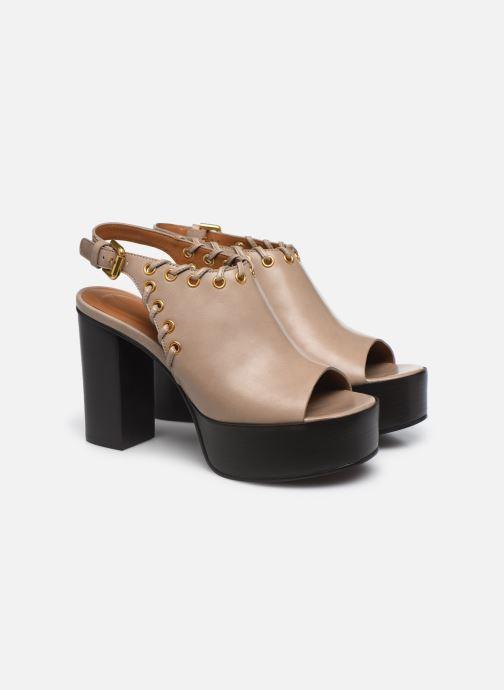Sandali e scarpe aperte See by Chloé Helen Eva Beige immagine 3/4