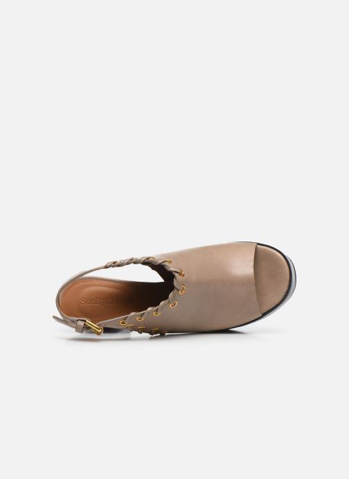 Sandali e scarpe aperte See by Chloé Helen Eva Beige immagine sinistra