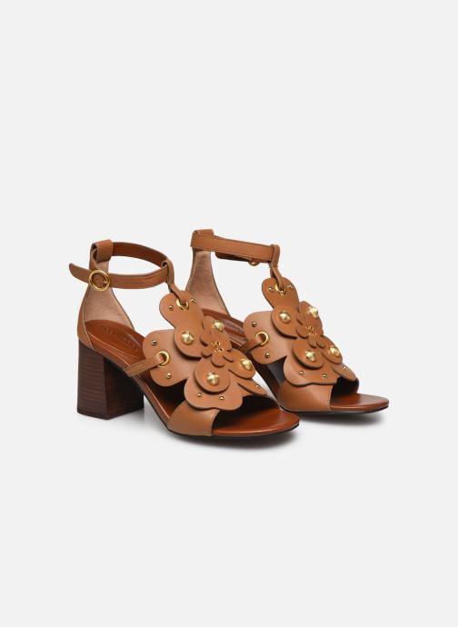 Sandales et nu-pieds See by Chloé Haya Howl Marron vue 3/4