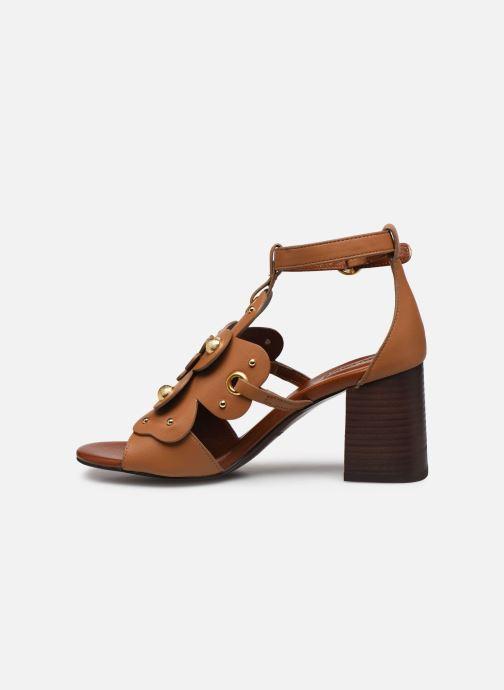 Sandales et nu-pieds See by Chloé Haya Howl Marron vue face